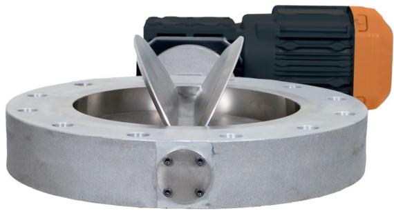Impeller Metering Valve Powder Bulk Solids