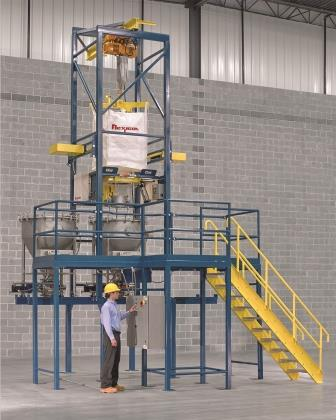 Bulk Bag Discharger With Hopper Shuttle System Powder
