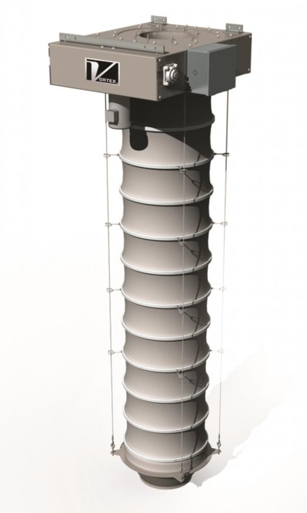 Vortex Loading Spouts Feature Four Cable Lifting System