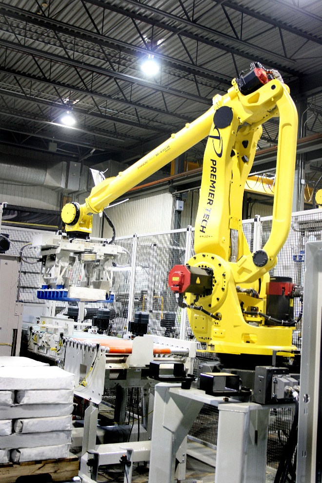 Robotic Palletizing Cell Powder Bulk Solids