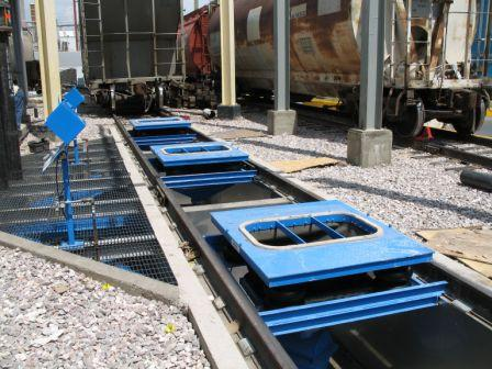 Railcar Unloading Connectors Powder Bulk Solids
