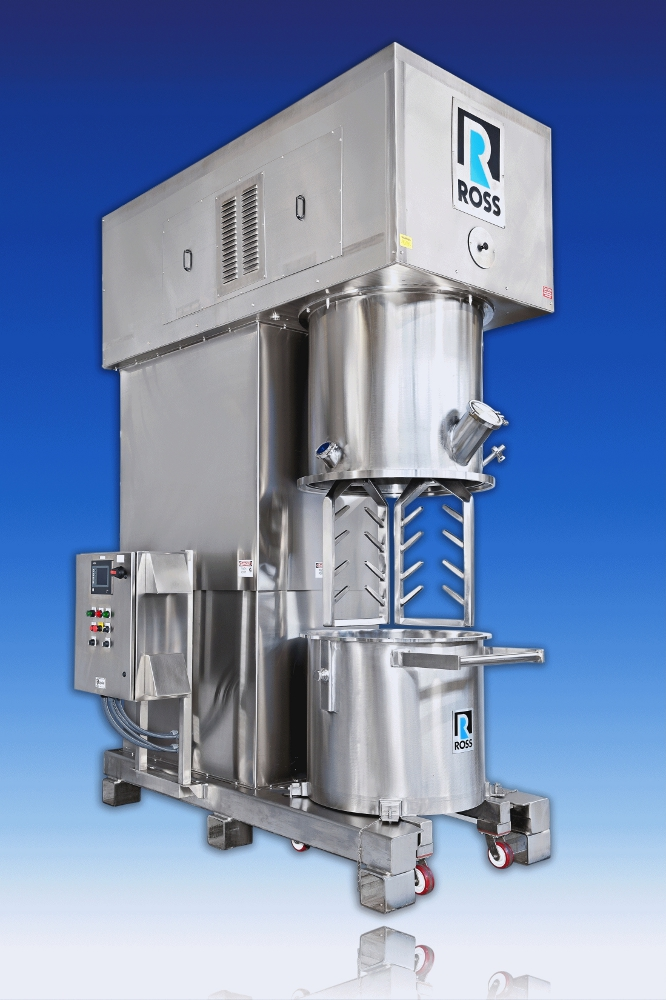 Double Planetary Mixer With Finger Blades Powder Bulk Solids