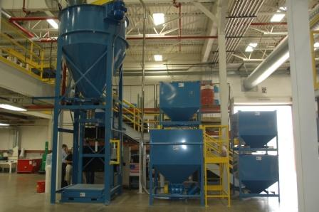 Bulk Mixing And Super Sack Filling System Powder Bulk Solids