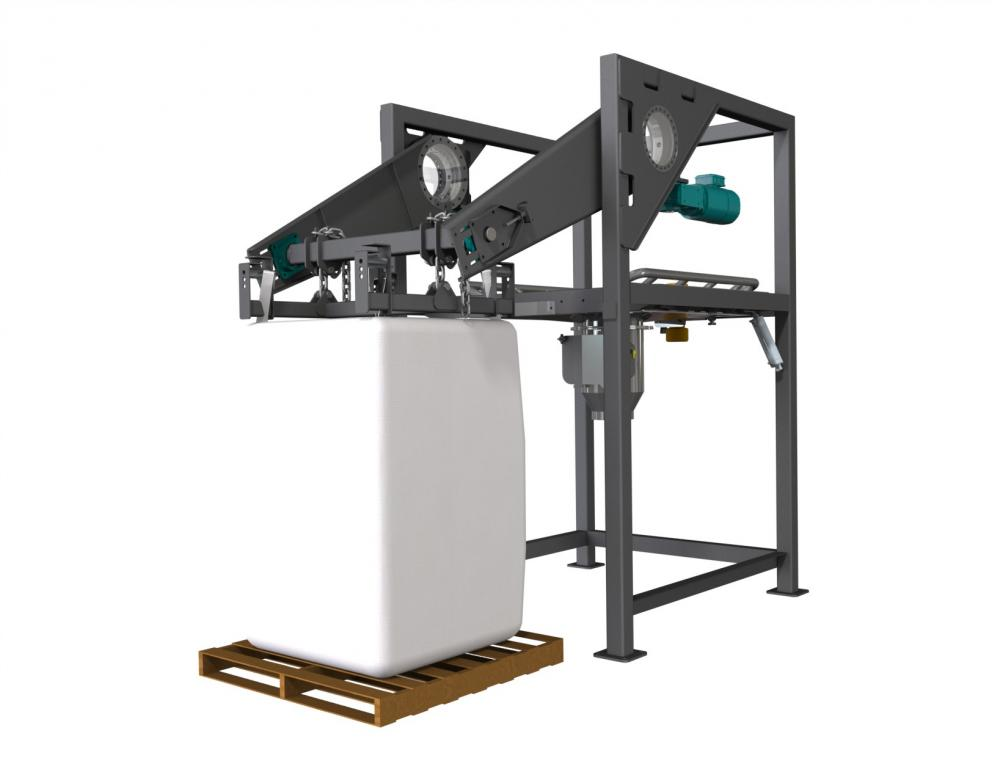 The Navigator E Series Bulk Bag Unloader Provides An All Electric Low Profile Solution To Handling Bags Twelve Foot Restricted Heights Are No Longer