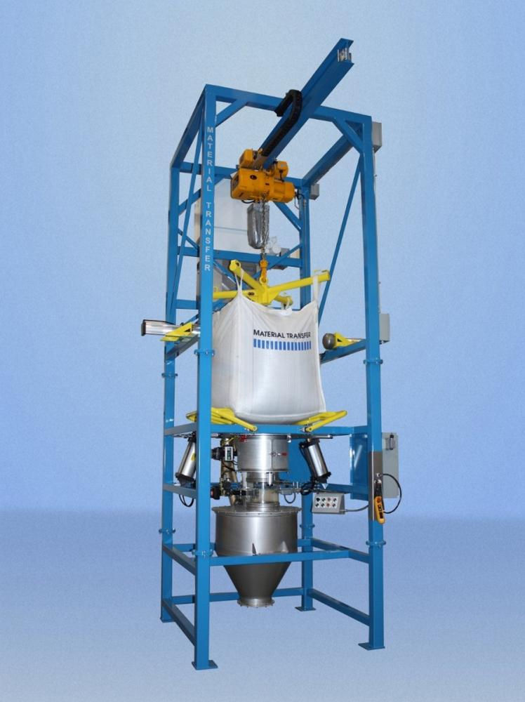 Bulk Bag Discharger With Integrated Dust Collection System