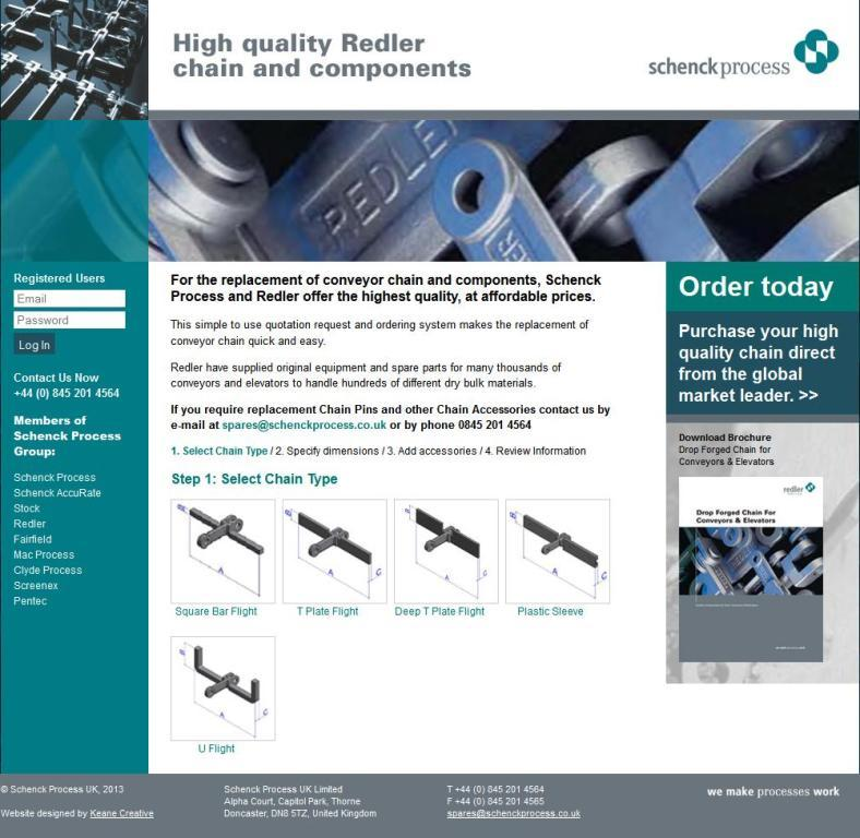 By Schenck And Company: Schenck Process Launches Web Site For Ordering Replacement