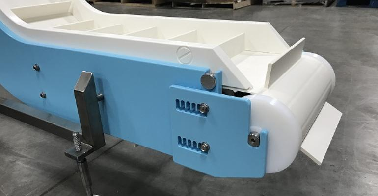 Dynamic Conveyor Corp. offers an allergen kit for its DynaClean sanitary conveyors.