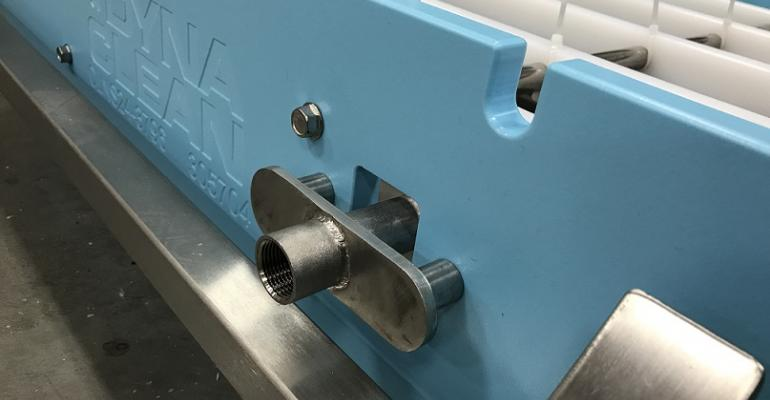Dynamic Conveyor Corp. now offers a clean-in-place option for its DynaClean sanitary conveyors.