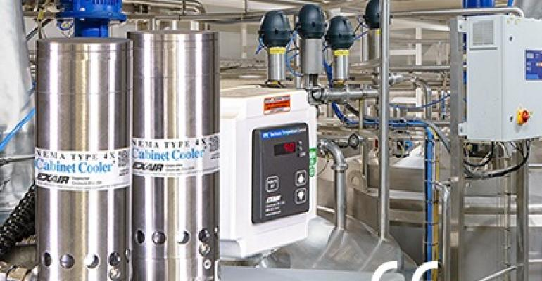 EXAIR's new dual 316 stainless steel Cabinet Cooler system
