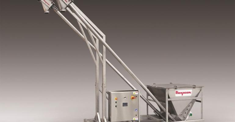 Flexicon Bev-Con flexible screw conveyor system