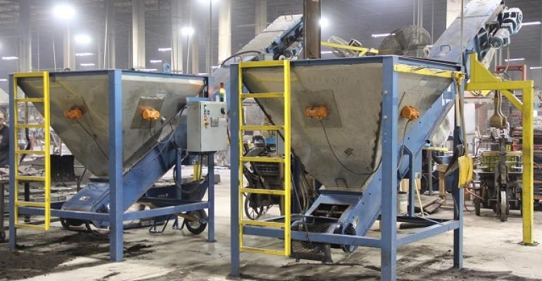 Two of the 19 sand-handling systems