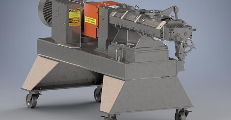 Readco continuous processor with durable casters