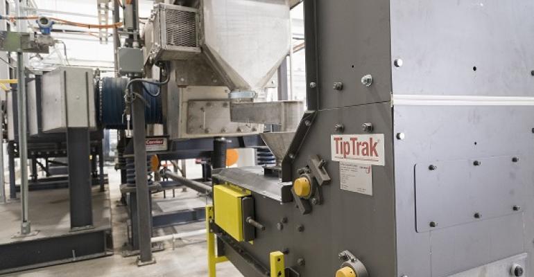 TipTrak infeed from screener upstream