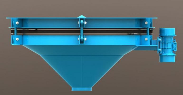 Vibra Screw heavy-duty patented dished-head bin discharger