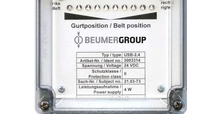 BEUMER belt position monitoring system