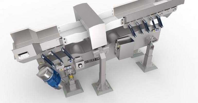 Key Technology specialized Iso-Flo vibratory conveyor
