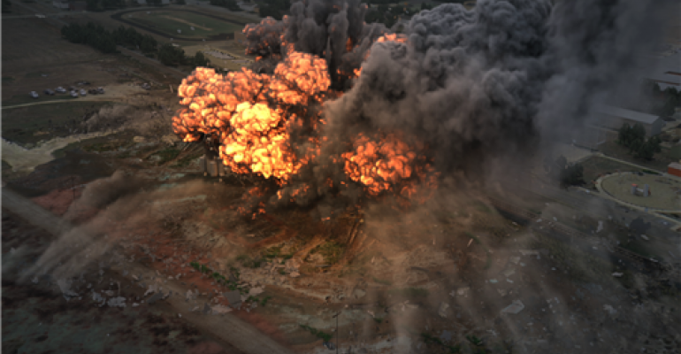 An animated rendering of the 2013 West Fertilizer plant explosion from the Chemical Safety Board.