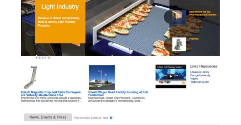 Eriez Launches Redesigned Web Site