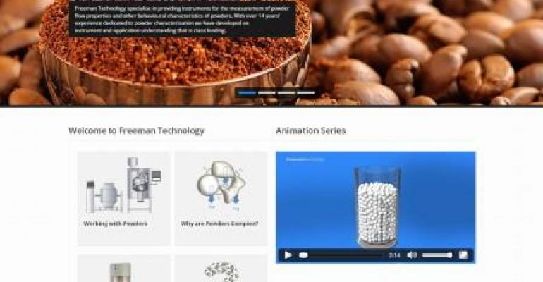 Freeman Technology Launches New Web Site for Powder Processing
