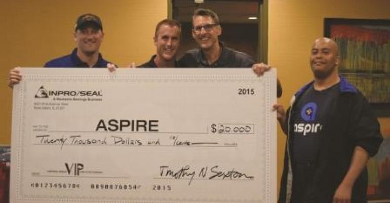 Inpro/Seal has donated $20,000 to Aspire.