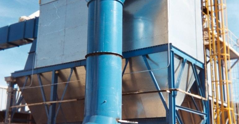 Pulse-Jet Dust Collector Handles Heavy Loading from Sand and Aggregate Fluid Bed Dryer