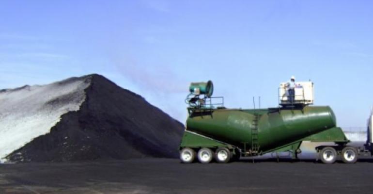 Cargo Handler Utilizes Customized Dust Suppression Rig