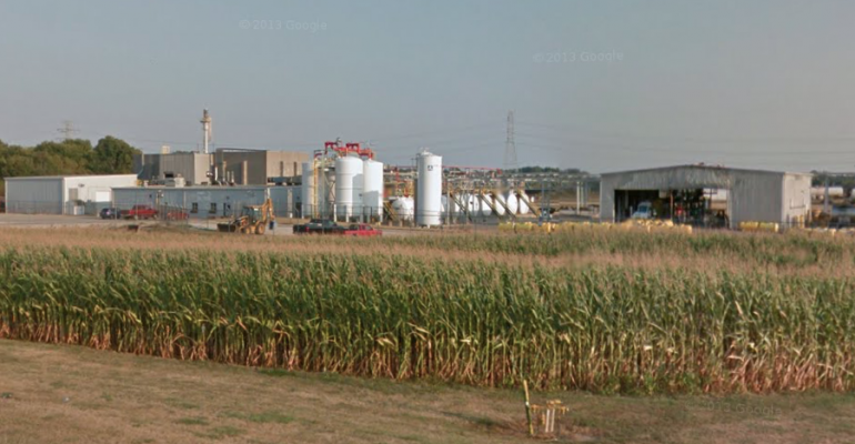 The LANXESS chemical plant in Mapleton, IL. Image courtesy of Google Maps