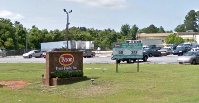 The Tyson Foods chicken plant in Dawson, GA. Image courtesy of Google Maps