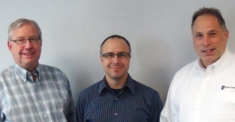 Timm Johnson, Mark Navin, and Ron Fojtik are celebrating 20 years with Spee-Dee Packaging Machinery
