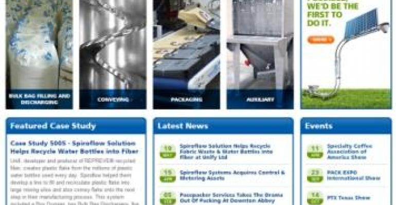 Spiroflow Systems Launches Redesigned Web Site