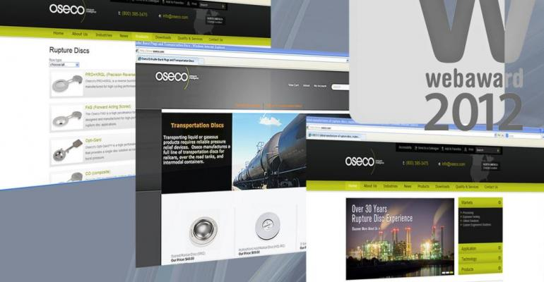 Oseco Wins Outstanding Web Site Award