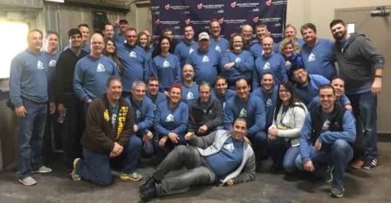 Inpro/Seal's sales team volunteered at River Bend Foodbank in Davenport, IA.
