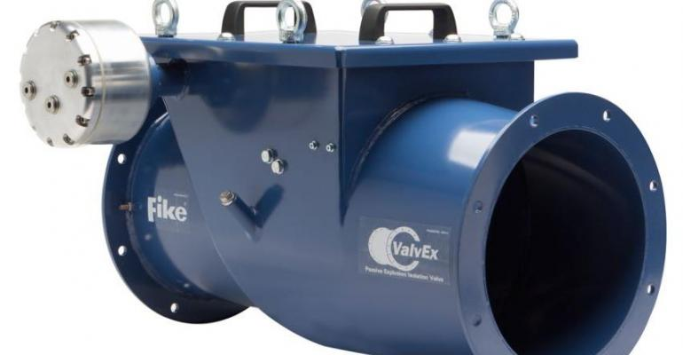 Fike launches explosion protection passive isolation valve