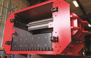 Assembly section of a Biomass Engineering & Equipment T-Series SMART conveyor