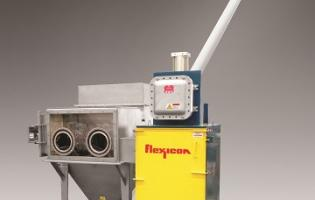 Flexicon bag dump station with NEMA 7/9 explosion-proof electrical system
