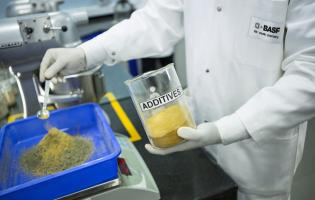 A BASF employee in India works with concrete admixtures. Image courtesy of BASF SE