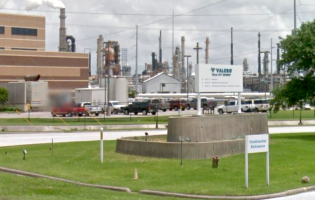 A sign marking an entrance to the Valero refinery in Texas City, TX. Image courtesy of Google Maps