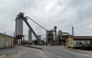 A view of the Reith-Riley Construction asphalt plant in Ludington, MI. Image courtesy of Google Maps