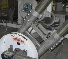 Aero mechanical conveyors, like this Aerocon system, are regularly used as an alternative to pneumatic conveying.