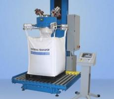 High-output filling system with Easy-Load rotary bag hanger system