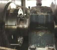 This mixer in a food manufacturing facility in Ohio processes 15,000 lb of dry pancake mix every hour.