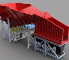 Heavy-duty Aumund arched plate conveyor SF