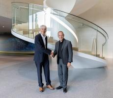 Johannes Wick (left), CEO Grains & Food at Bühler, and André Noreau, CEO of Premier Tech – Systems and Automation