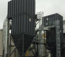 Scientific Dust Collectors' high-efficiency baghouse saves energy.