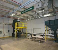 ANSI/ASHRAE Standard 199 dust collector testing facility