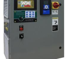 Integrated panel with filter pulsing controller, variable-frequency drive and touch screen