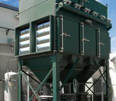 Image 3: Outdoor dust collector with explosion venting