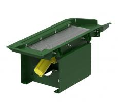 Cleveland Vibrator air powered screener with perforated screen deck