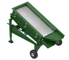 Cleveland Vibrator portable vibratory screener with perforated screen deck