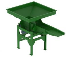 Cleveland Vibrator vibratory screener with grizzly bar screen deck